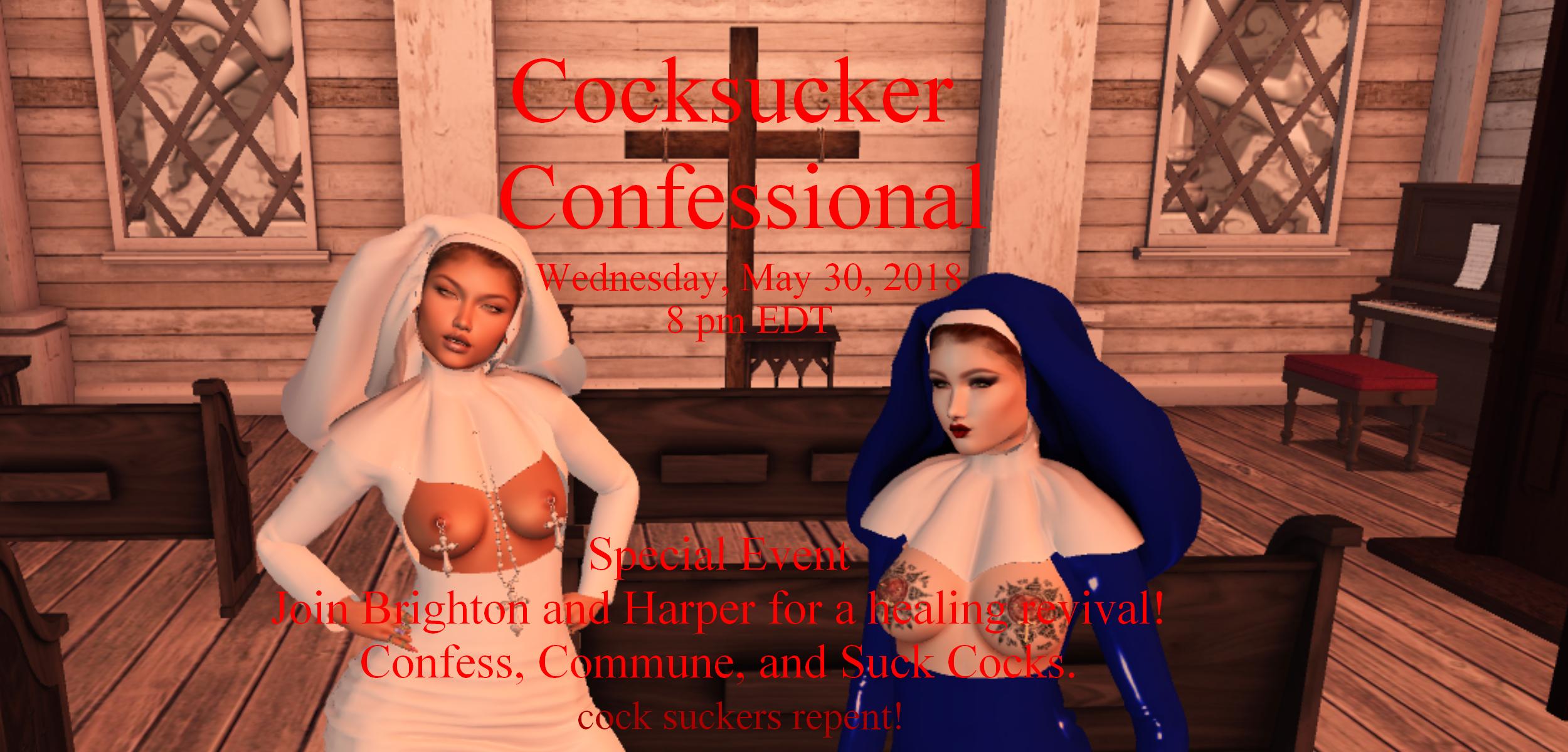 cocksucker confessional advert 800 539 4566