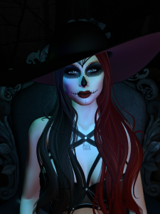 Halloween on the Sim Harper in sugar skull 800 539 4566